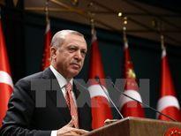 Tổng thống Erdogan cảm ơn lãnh đạo các chính đảng đã ủng hộ