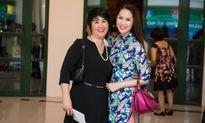 Dương Thùy Linh xinh đẹp trong áo dài do Hoa hậu Ngọc Hân thiết kế