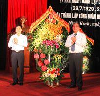 LĐLĐ Ninh Bình: Kỷ niệm 87 năm ngày thành lập Công đoàn Việt Nam, 70 năm thành lập Công đoàn Ninh Bình