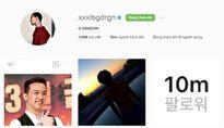 G-Dragon cán mốc 10 triệu lượt theo dõi trên Instagram