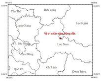 Động đất 3,2 độ richter ở tỉnh Bắc Giang