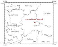 Động đất 3,2 độ richter tại Bắc Giang