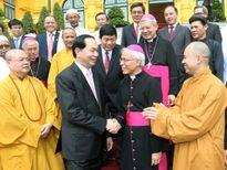 Chủ tịch nước Trần Đại Quang gặp mặt các chức sắc, chức việc tôn giáo