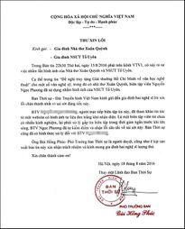 VTV gửi thư xin lỗi về vụ nhầm ảnh nhà thơ Xuân Quỳnh