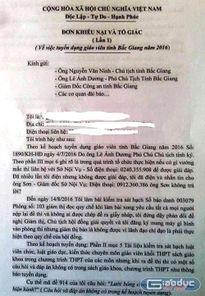 """Thi tuyển dụng giáo viên tại Bắc Giang bị """"tố"""" đề thi có vấn đề"""