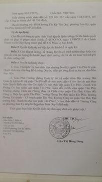 UBND Phường Sơn Kỳ (Tân Phú, TP. HCM): Liệu có 'bỏ quên' hàng loạt sai phạm?