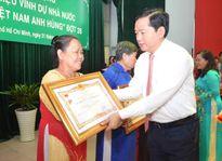TPHCM: Truy tặng danh hiệu 'Bà mẹ Việt Nam anh hùng' cho 40 Mẹ