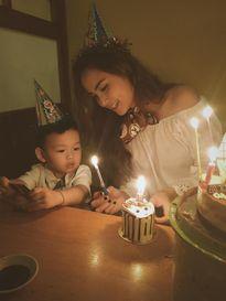 Hoa hậu Diễm Hương phân trần việc ông xã không xuất hiện trong sinh nhật