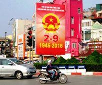 Thủ đô Hà Nội rực rỡ cờ hoa mừng Quốc khánh