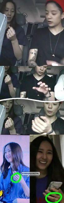 Fan tung bằng chứng Krystal và Kai (EXO) đeo nhẫn đôi