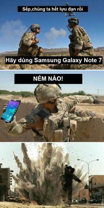 Ảnh chế cháy nổ Samsung Galaxy Note 7 hài hước