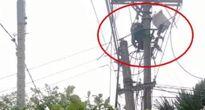 Thi công khi chưa được cắt điện lưới, một công nhân bị điện giật suýt tử vong