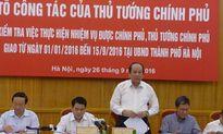 Tổ công tác của Thủ tướng làm việc với Hà Nội