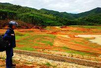 Lòng hồ chứa nước Phú Thạnh bị khai thác tan hoang