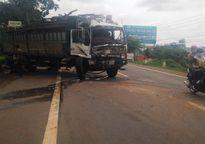 Gia Lai: Xe tải mất thắng va chạm với xe container