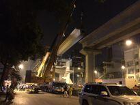 HN: Cấm phương tiện để phục vụ lắp dầm đường sắt trên cao