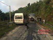 Xe chở xăng dầu đâm trực diện xe khách, nhiều người bị thương