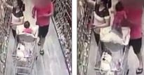 Mẹ mải chọn hàng trong siêu thị, con gái suýt bị người lạ bắt cóc