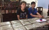 Nghệ An: Bắt quả tang hai đối tượng vận chuyển 40 bánh cần sa