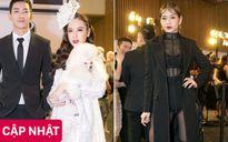Angela Phương Trinh ôm chó tạo dáng, Chi Pu sexy chưa từng thấy trên thảm đỏ show diễn Chung Thanh Phong