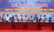 Thi tìm hiểu ATGT trực tuyến: THPT Nguyễn Cảnh Chân là quán quân