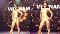 Nguyễn Thị Loan gây sốt với màn trình diễn bikini bốc lửa