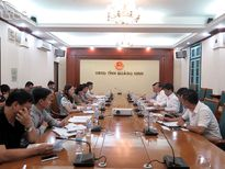 Tổng cục trưởng Nguyễn Văn Tuấn làm việc với UBND tỉnh Quảng Ninh
