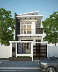 Xây nhà 2 tầng thiết kế đẹp, phong cách hiện đại với kiểu mái nhà mới