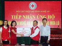 Hội Chữ thập đỏ tỉnh tiếp nhận 700 triệu đồng hỗ trợ vùng lũ