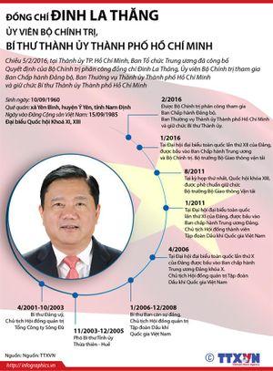 Tiểu sử tân Bí thư Thành ủy TP.HCM Đinh La Thăng