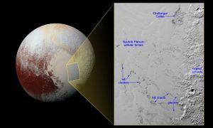Phát hiện đồi 'trôi' trên sông băng nitơ của Diêm Vương Tinh