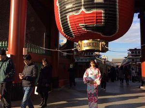 """Người đẹp Wushu Thúy Vi """"khoe"""" chuyến chơi Tết ở Nhật"""