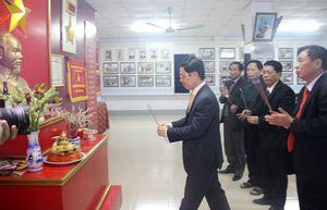 Đồng chí Nguyễn Xuân Sơn chúc Tết các cơ quan, đơn vị