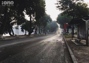 Hà Nội vắng lặng, đẹp yên bình trong buổi sáng đầu năm