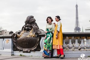 Nao lòng ngắm áo dài Việt tha thướt trên đường phố Paris