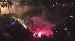 Xem clip sự cố bắn pháo hoa đầu năm ở Quảng Ngãi