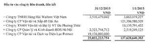 Soi các khoản đầu tư tài chính trong năm 2015 của MHC