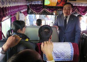 Bí thư Hà Nội kiểm tra việc phục vụ dân đi lại sau Tết