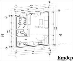Thiết kế nhà nhỏ 26m2 cho vợ chồng trẻ