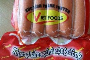 Choáng váng 100% xúc xích Vietfoods chứa chất cấm gây ung thư