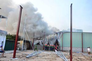 Cháy xưởng rộng 500 m2 gần cây xăng
