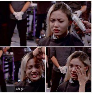 Thí sinh lùn nhất khóc nức nở vì bị cạo đầu ở Next Top Model