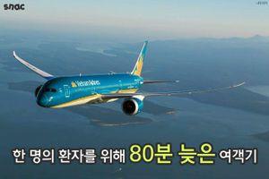 Hoãn chuyến cứu người, Vietnam Airlines được báo Hàn ca ngợi