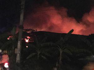 Cháy lan cực lớn ở cụm công nghiệp Hải Phòng