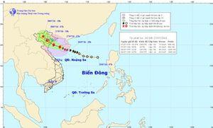 Bão số 1 đã vượt qua đảo Hải Nam và đi vào vịnh Bắc Bộ