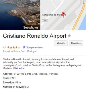 Sân bay mang tên Ronaldo nguy hiểm bậc nhất châu Âu