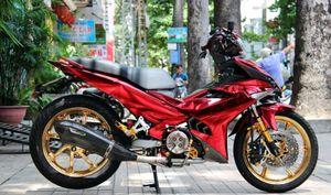 """Yamaha Exciter 150 """"khoác áo"""" crom ánh hồng cực độc"""