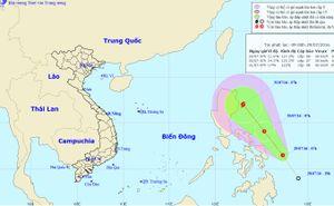 Áp thấp nhiệt đới khả năng thành bão, hướng vào Biển Đông