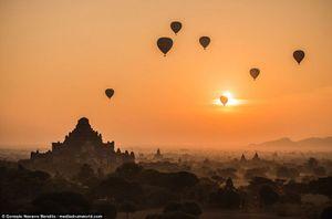 Ngắm thành phố Bagan, Myanmar đẹp lung linh trong cảnh bình minh và hoàng hôn