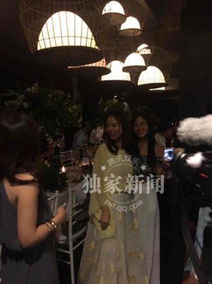 Lâm Tâm Như, Hoắc Kiến Hoa rạng rỡ chào đón dàn sao khủng trước hôn lễ